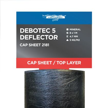 Image for Chesterfelt Debotec Deflector 5 Torch On Cap Sheet Charcoal 8m x 1m 2181
