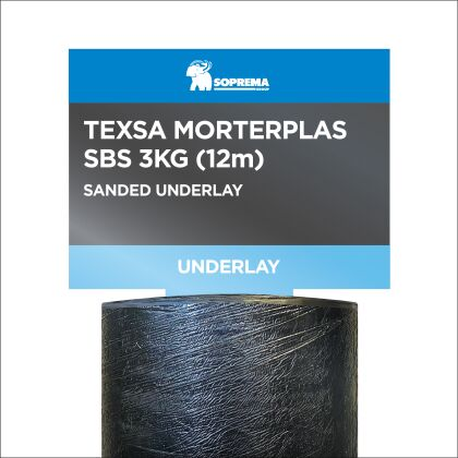 Image for Soprema Texsa Morterplas SBS 3kg Sanded Underlay 12m