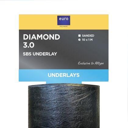 Image for Euro Polymers Diamond 3.0 Underlay 10m x 1m