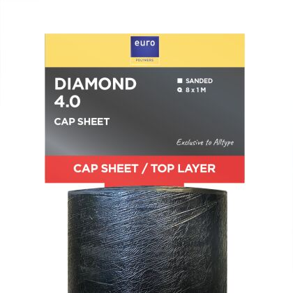 Image for Euro Polymers Diamond 4.0 Charcoal 8m x 1m