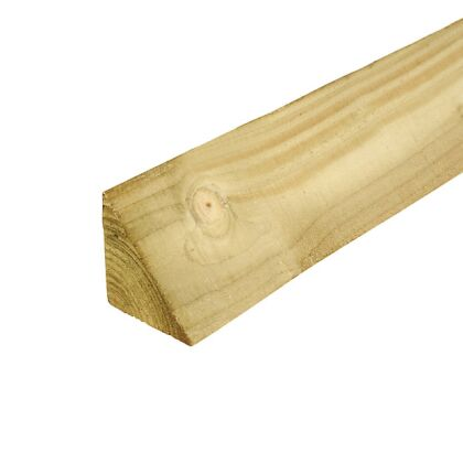 Image for Timber Treated Arris Rail 47mm x 50mm 3.6m Lengths